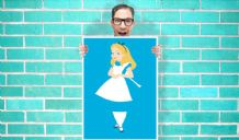 Disney Princess alice in wonderland Art - Wall Art Print Poster Pick A Size -  Cartoon Art Geekery